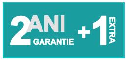 2 ani GARANTIE Standard + 1 an posibilitate extra
