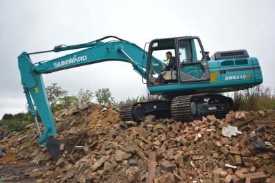 Excavator sunward la lucru SWE219M