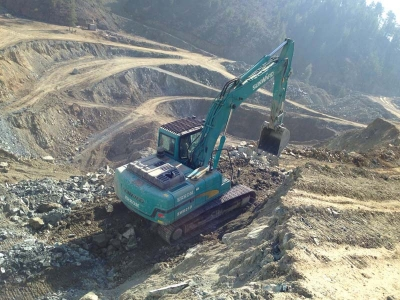 Excavator sunward la lucru