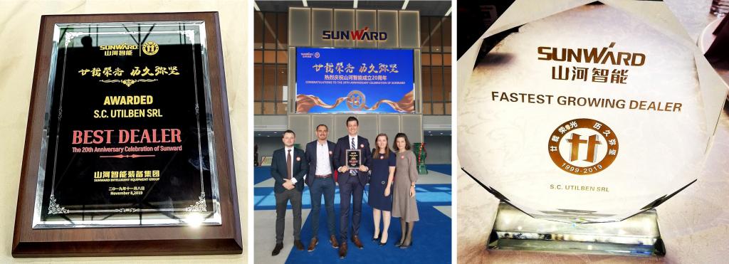 Utilben aduce acasa premiul Best Dealer Award 2019 oferit de Sunward
